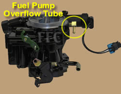 Picture of Y38-88 2 barrel MerCarb TKS marine carburetor with Fuel Pump Overflow Tube