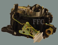 Picture of Rochester Quadrajet marine carburetor with mechanical choke
