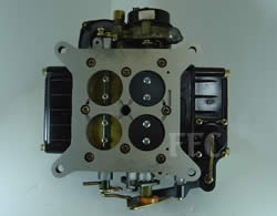 Picture of Y41-1ST four barrel Holley Model 4160 marine carburetor with no PCV 3/8 vacuum line