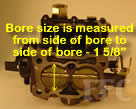 Picture of Y39 COT marine carburetor with large bore size