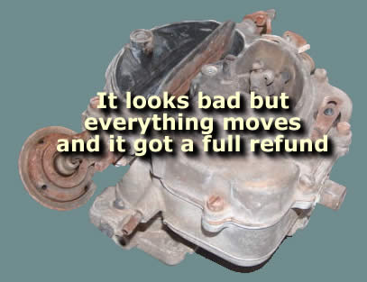 Picture of how a bad a marine carburetor core can look and still get a full refund