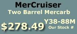 Y38-84M two barrel MerCarb for MerCruiser
