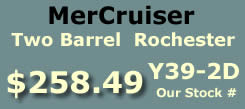 Y39-2D two barrel Rochester for MerCruiser I4