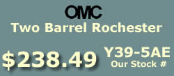 Y39-5AE two barrel Rochester 17086107 for OMC 4 cylinder 2.3L applications