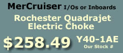 Y40-1AE Rochester Quadrajet marine caburetor with electric choke for MerCruiser I/Os and inboards