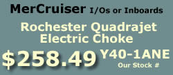Y40-1ANE Rochester Quadrajet marine caburetor with electric choke for MerCruiser I/Os and inboards