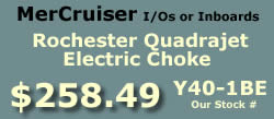 Y40-1BE Rochester Quadrajet marine caburetor with electric choke for MerCruiser I/Os and inboards