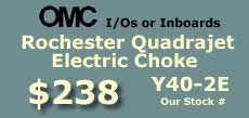 Y40-2E Rochester Quadrajet marine caburetor with electric choke for OMC 8 cylinder