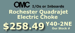 Y40-2NE Rochester Quadrajet marine caburetor with electric choke for OMC 8 cylinder