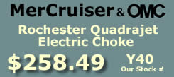 Y40 Rochester Quadrajet marine caburetor with electric choke for MerCruiser and OMC  applications