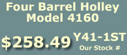 Y41-1ST four barrel Holley Model 4160 marine carburetor for Ford Inboard, OMC and Volvo Penta