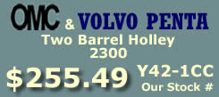 Y42-1CC two barrel Holley 2300 marine carburetor with electric choke for Omc and Volvo Penta 4 cylinder engines