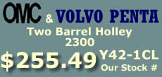 Y42-1CL two barrel Holley 2300 marine carburetor with electric choke for Omc and Volvo Penta 4 cylinder engines