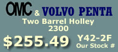 Y42-2F two barrel Holley 2300 marine carburetor with electric choke for Omc, Volvo Penta and all Inboard 8 cylinder engines