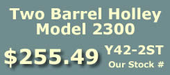 Y42-2ST two barrel Holley 2300 marine carburetor with electric choke for Omc, Volvo Penta and all Inboard 8 cylinder engines