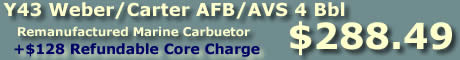 Purchase Y43 four barrel Weber/Carter AFB marine carburetor from flyingfishcarburetors.com